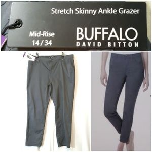 Buffalo David Bitton Mid Rise Stretch Skinny Ankle